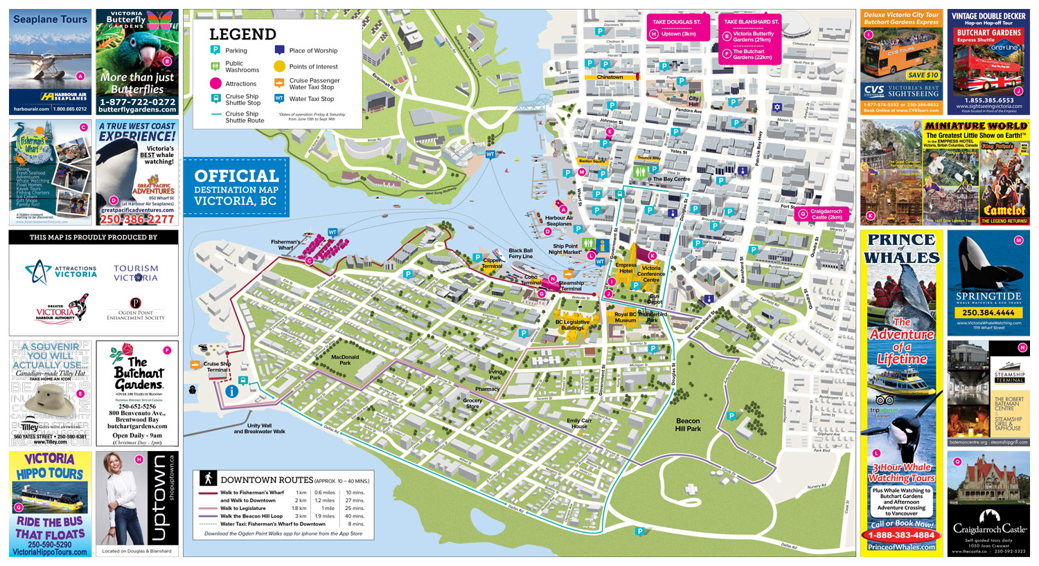 Attractions Victoria map design