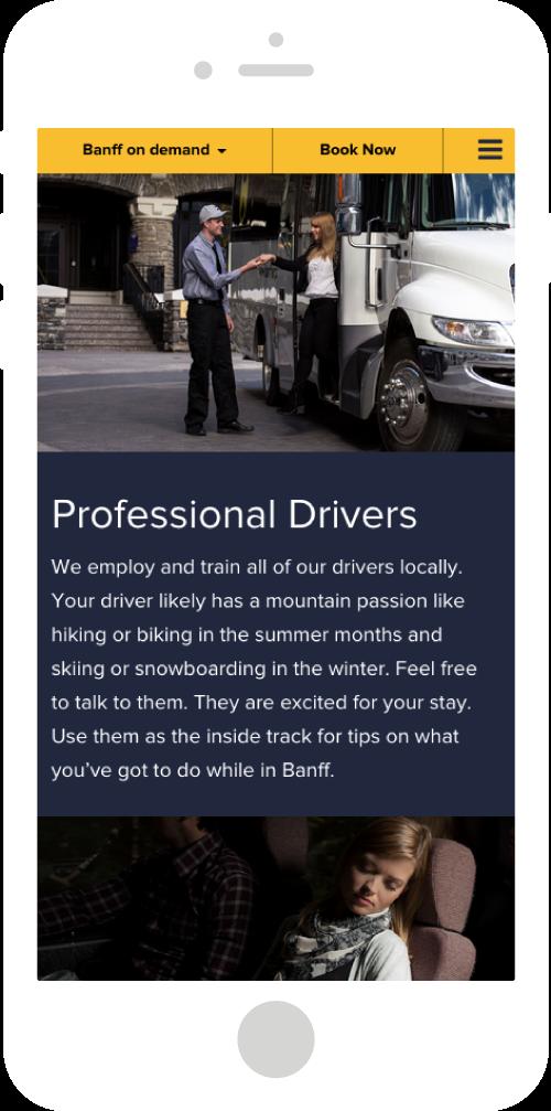 Banff Airporter Site Mobile Design