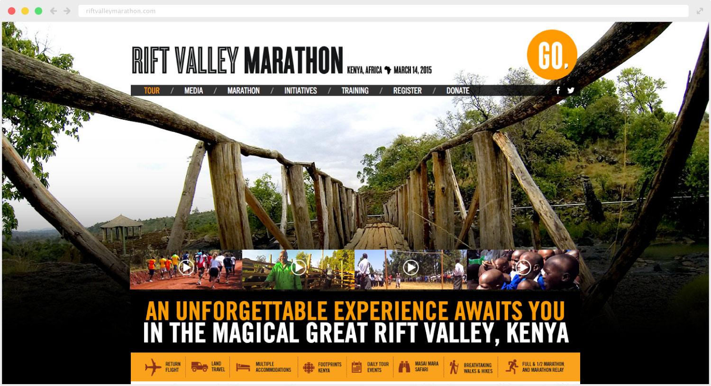 Rift Valley Marathon website design and development