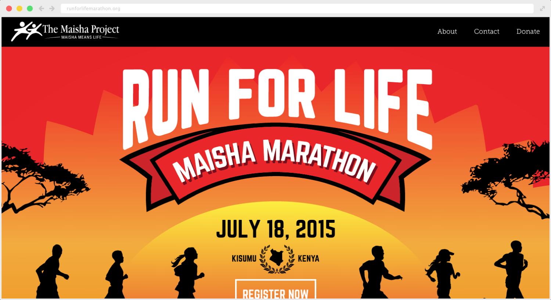 Run for Life Marathon Site Design