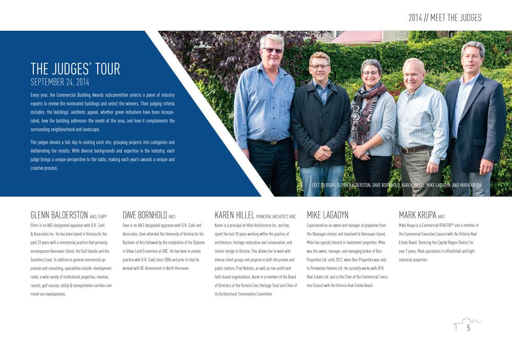 Community Building Awards booklet design