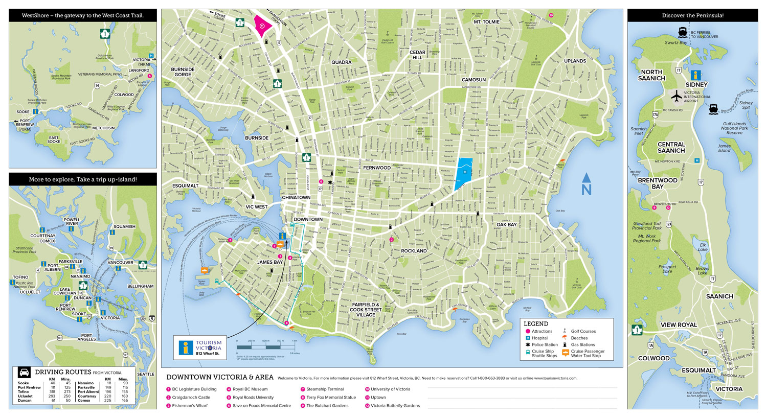 victoria bc tourist map pdf