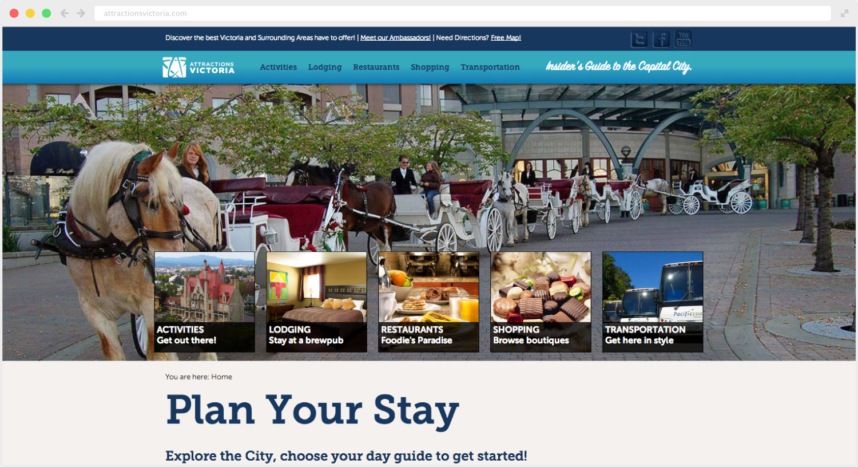 Attractions Victoria website design