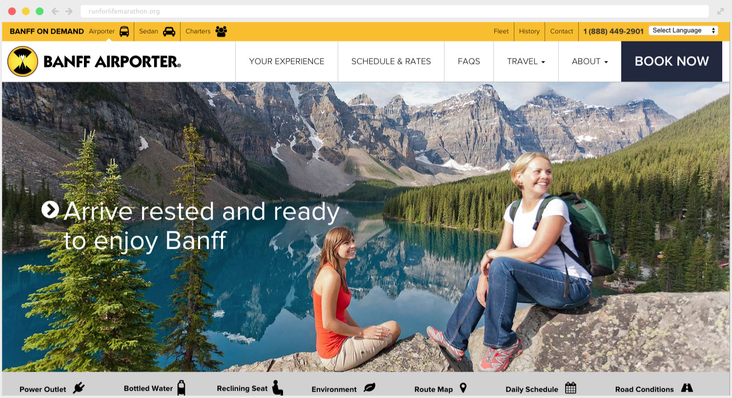 Banff Airporter Site Design