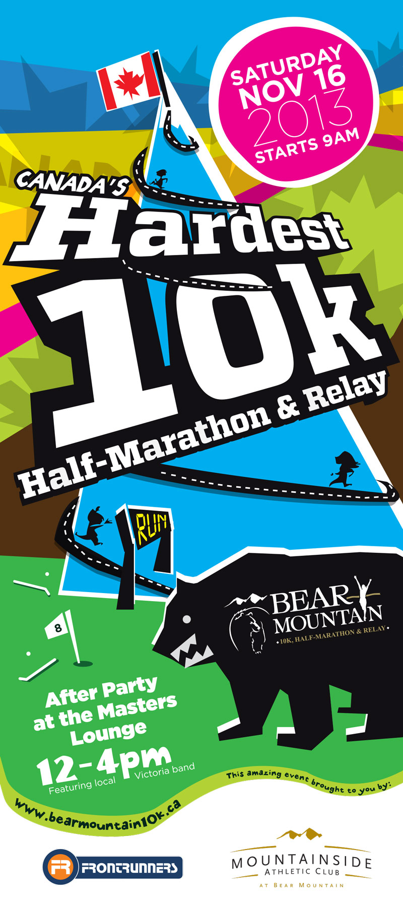Bear Mountain 10k RACK CARD design