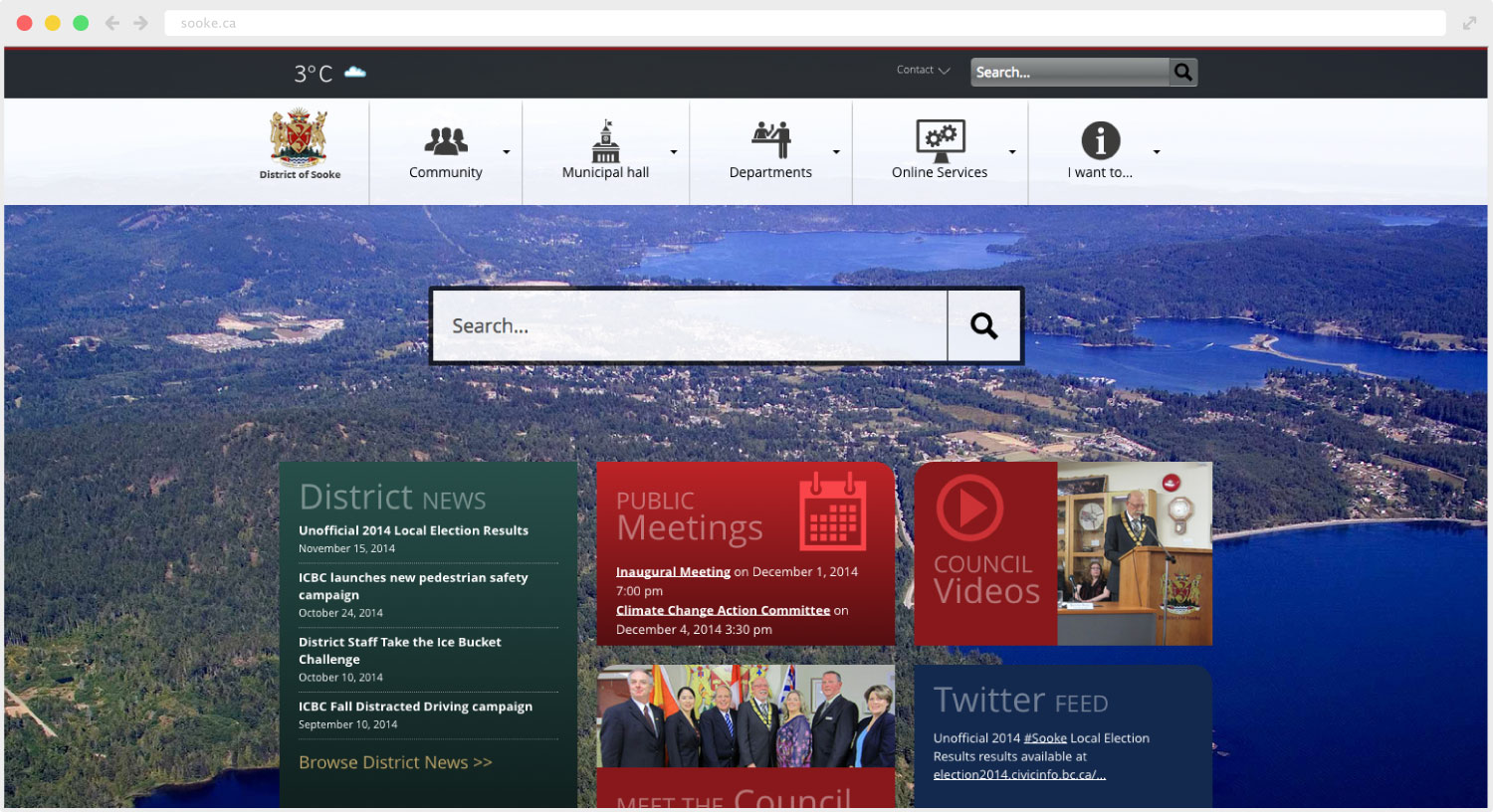 District of Sooke website design