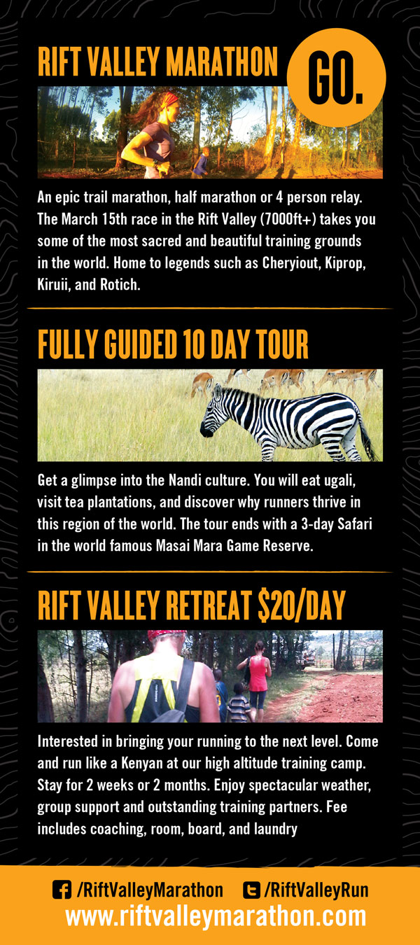 Rift Valley Marathon brochure design