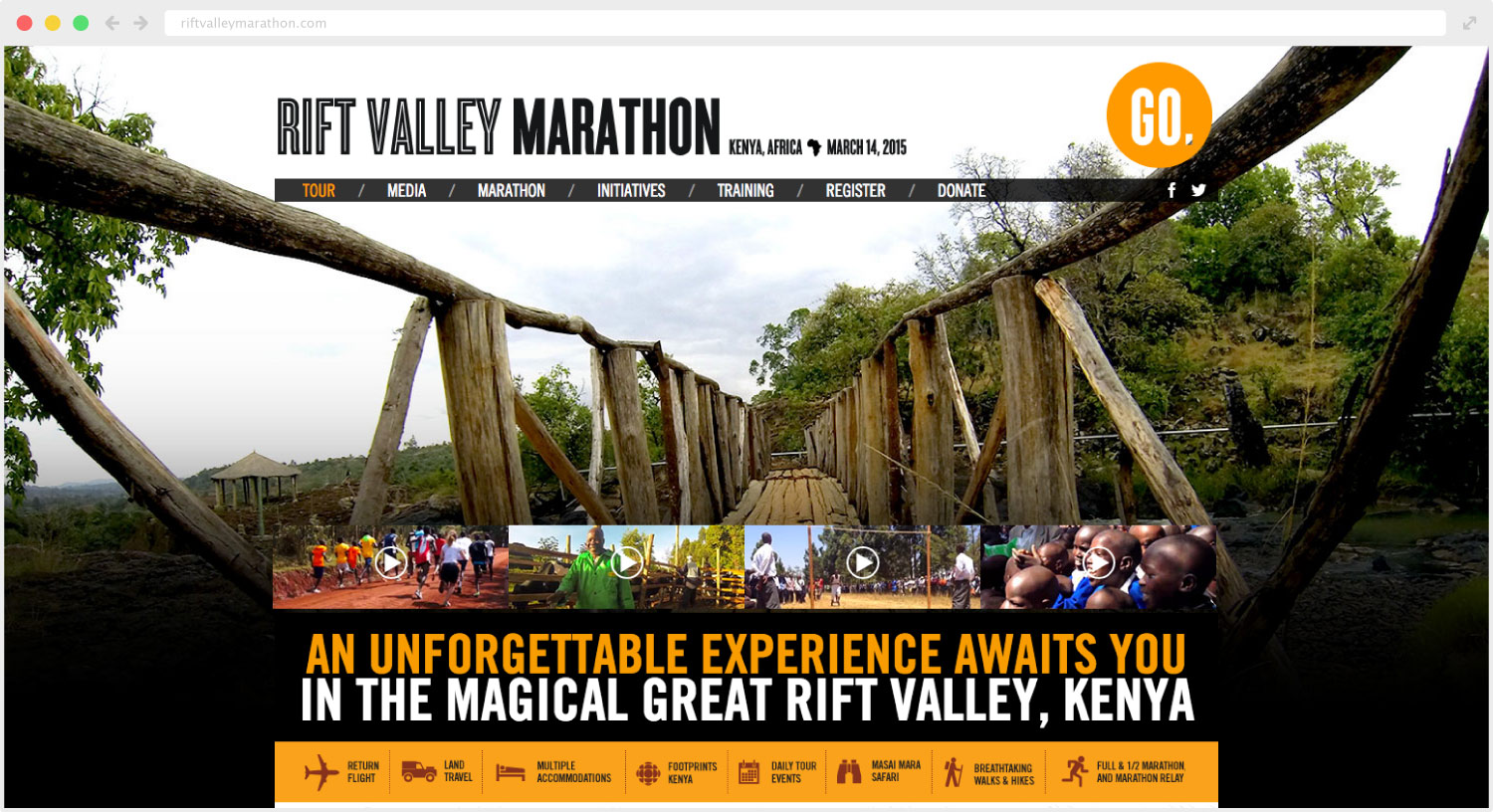 Rift Valley Marathon website design and development