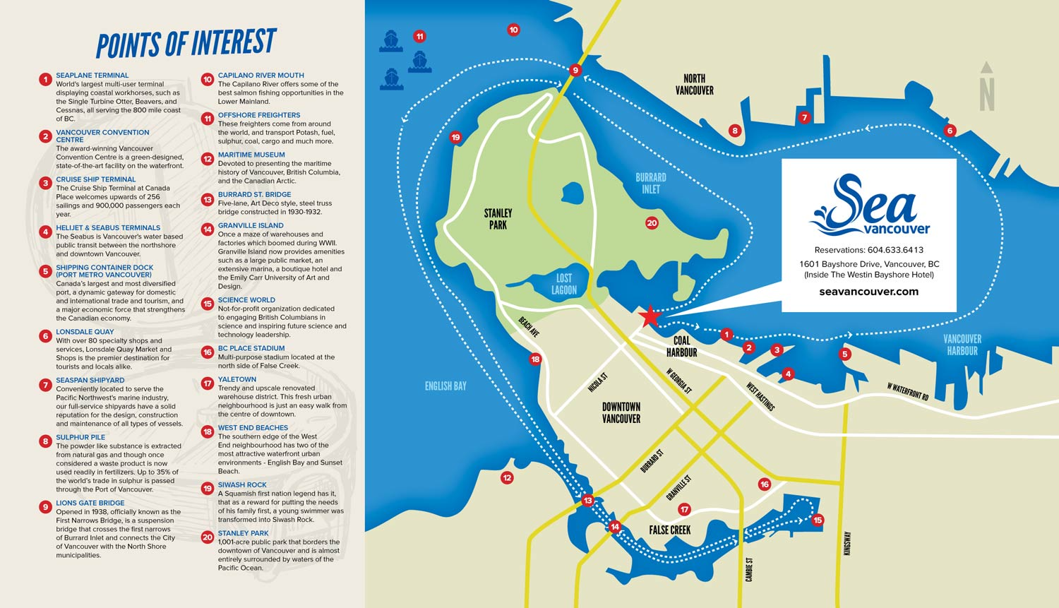 Sea Vancouver Map Design