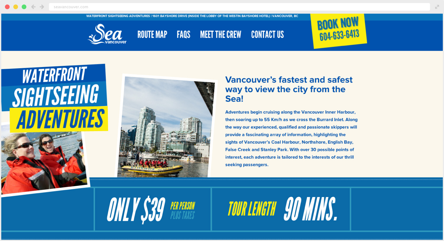 Sea Vancouver Website Design