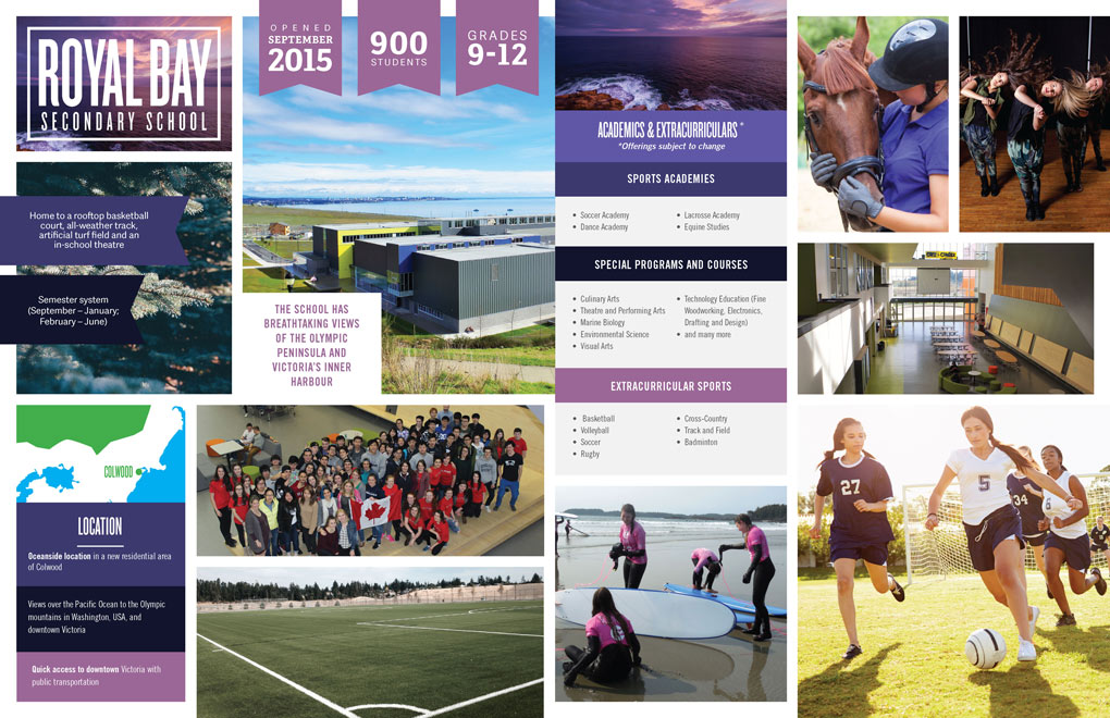 Sooke Schools International Student Program Brochure design
