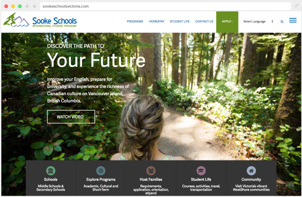 Sooke Schools International Student Program Home page